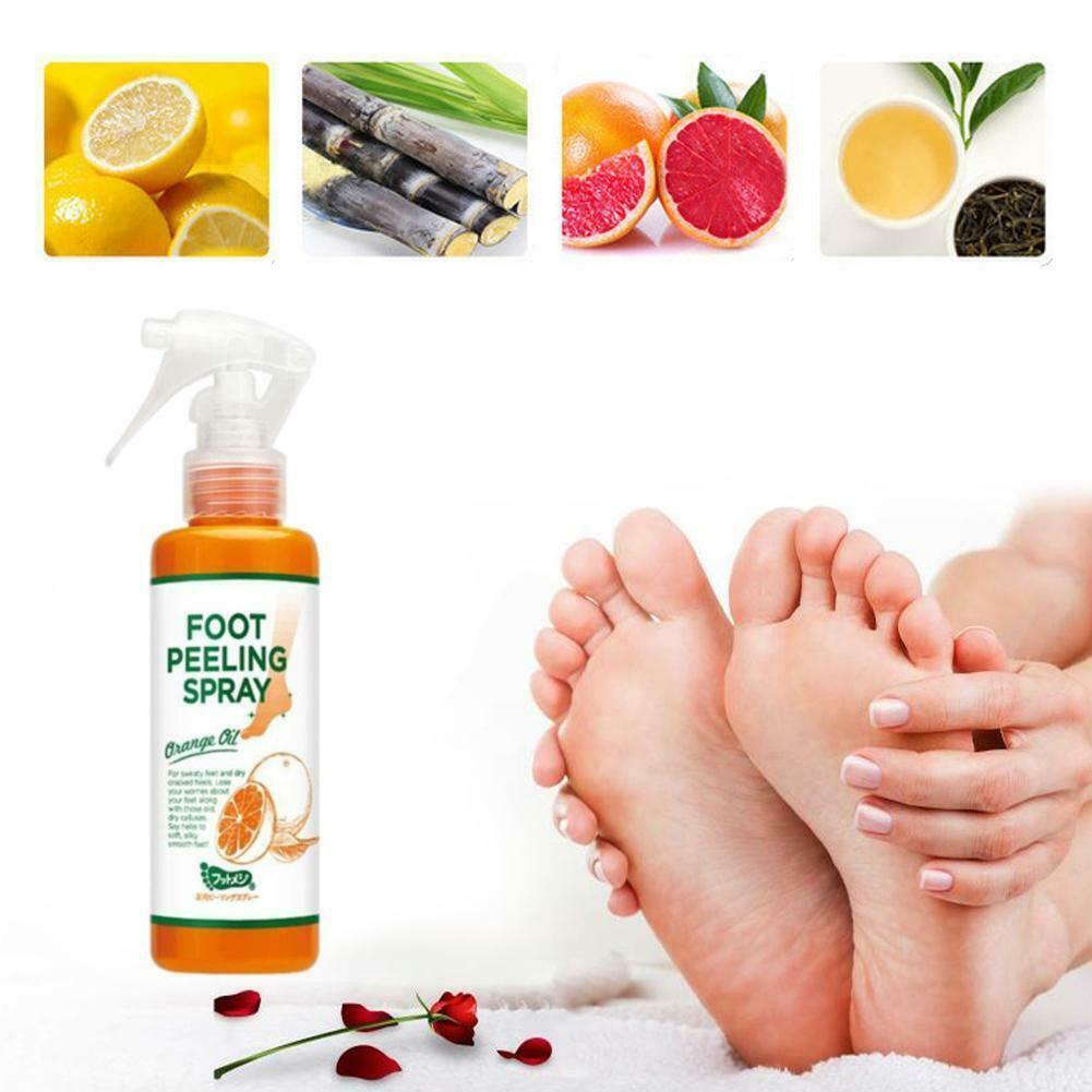Cosmetics Foot Peeling Spray Natural Orange Essence Pedicure Hand Dead Skin new