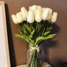 10PCS Tulip Artificial Flower White