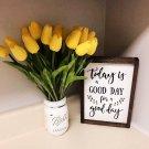 10PCS Tulip Artificial Flower Yellow