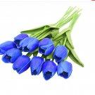 10PCS Tulip Artificial Flower Blue