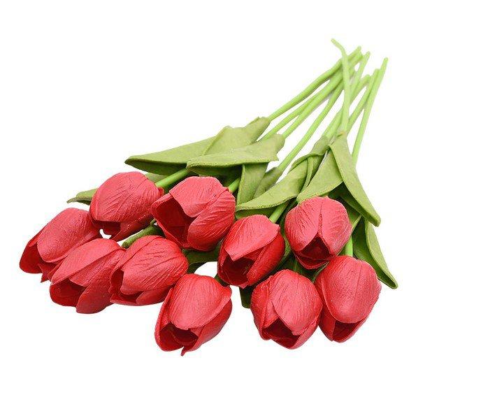 10PCS Tulip Artificial Flower Red