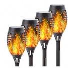 4 pcs Solar Led Light Flickering Dancing Flame Torch Lighting Waterproof Lamp
