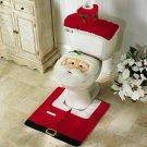 Merry Christmas Toilet Seat & Cover Santa Claus Bathroom Mat Christmas Home DecoR