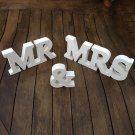 """""""Mr & Mrs"""" Classic Wooden wedding Sign White"""