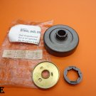 "NEW OEM STIHL 3/8"", 7-T CHAIN RIM SPROCKET CLUTCH DRUM KIT 045 056 O45 O56 AV CHAINSAW 1115-007-1040"