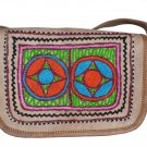 Embroidered Leather Handbag ethnic women's bag, satchel, crossbody purse clutch.