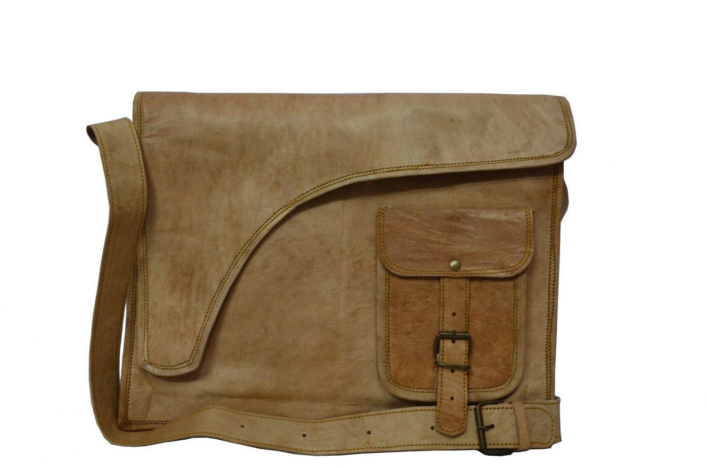 Flap Cut Messenger/ college/ office/ satchel leather Bag.