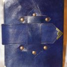 Real Leather Embossed Sketchbook with metal fittings on it.