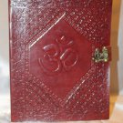Leather diary embossed with spiritual symbol OM.