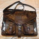 Buffalo Leather Messenger Bag / retro Style Satchel / Macbook / Laptop / Shoulder Bag