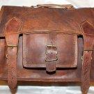 Handmade Goat Leather Messenger/College/Laptop/office Satchel Bag.