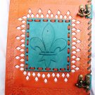 Real Leather handmade Sketchbook Scrapbook Notebook Diary Journal #6