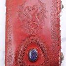 Real Leather handmade Sketchbook Scrapbook Notebook Diary Journal #14