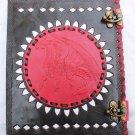 Real Leather handmade Sketchbook Scrapbook Notebook Diary Journal #16