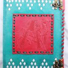 Real Leather handmade Sketchbook Scrapbook Notebook Diary Journal #24