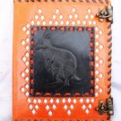 Real Leather handmade Sketchbook Scrapbook Notebook Diary Journal #33