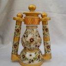 White Marble Lamp with Meenakari and Kundan work.