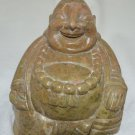 Laughing buddha feng shui marble artifact handmade by skilled craftsmen.