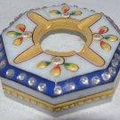 Handicraft marble Smoking Astray/cigar ashtray gems inlaid decor Gifts, Stone Ash Pot #4.