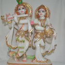 Handmade marble statue of hindu god lord krishna for gifts and home decor.