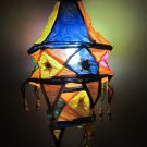 Indian designer handmade cotton Applique hanging lamp #1