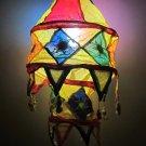 Indian designer handmade cotton Applique hanging lamp #2