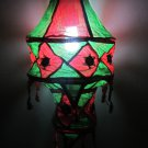 Indian designer handmade cotton Applique hanging lamp #4