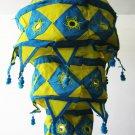 Indian designer handmade cotton Applique hanging lamp #6