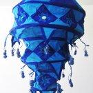 Indian designer handmade cotton Applique hanging lamp #10