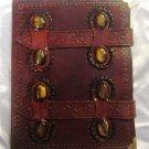 Real Leather handmade Sketchbook Scrapbook Notebook Diary Journal #42