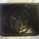 Handmade Leather Satchel/Messenger/Cross body Unisex Bag with Celtic design.