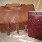 Combo Pack of leather journal and leather bag. For personal use and gifts. Pack #7