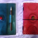 Combo pack of Real Leather handmade Sketchbook Scrapbook Notebook Diary Journal. Pack #18
