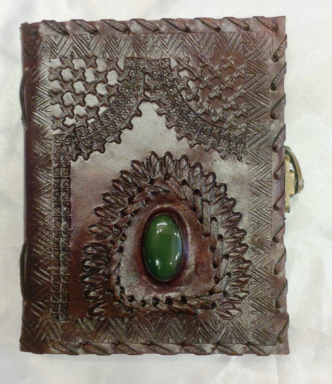 Real Leather handmade Sketchbook Scrapbook Notebook Diary Journal #44