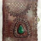 Real Leather handmade Sketchbook Scrapbook Notebook Diary Journal #45
