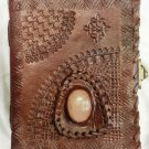 Real Leather handmade Sketchbook Scrapbook Notebook Diary Journal #49