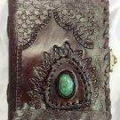 Real Leather handmade Sketchbook Scrapbook Notebook Diary Journal #52