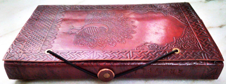 Real Leather handmade Sketchbook Scrapbook Notebook Diary Journal #60