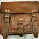 Handmade Goat Leather Messenger/College/Laptop/office Satchel vintage Bag for gifts and personal use