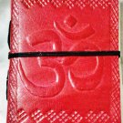 Leather diary embossed with spiritual symbol OM #64