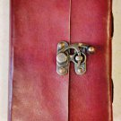 Real Leather handmade Sketchbook Scrapbook Notebook Diary Journal #67