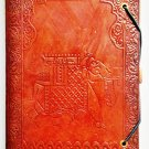 Leather diary embossed with elephant with lace lock. #73