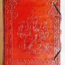 Handmade leather diary with lord Ganesha embossed. #74
