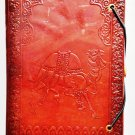 Leather journal embossed with camel for gifts. #75
