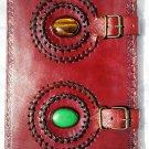 Real Leather handmade Sketchbook Scrapbook Notebook Diary Journal #76
