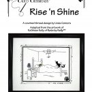 Calico Crossroads RISE N SHINE Kats By Kelly Cross-Stitch Pattern FREE SHIPPING