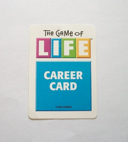 graphic regarding Game of Life Career Cards Printable referred to as The Video game Of Lifestyle (Alternative Components) 9 Occupation Playing cards 2002 Version