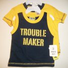 NEW - Baby Boys 3-6 Months 3 Piece Short Set w/ Shirt and Tank Top