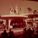 Disneyland 35mm BANDSTAND IN REFRESHMENT CENTER Souvenir Slide PANA-VUE (Vintage) VP61A6