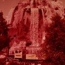 Disneyland 35mm CASCADE MOUNTAIN & TRAIN Souvenir Slide PANA-VUE (Vintage) VP40A1